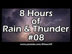 8 Hours of relaxing morning rain and thunder. You can hear the sound of the rain and occasionally the sound of thunder and lightning.  If you listen to this during sleep or meditation you will feel peaceful and calm. Great for tinnitus, meditation, yoga, when you study, go to sleep, have insomnia or have sleep deprivation.  Please like, subscribe and comment if you enjoyed this video. It will really help me out a lot. :)  http://www.youtube.com/subscription_center?add_user=8hoursof