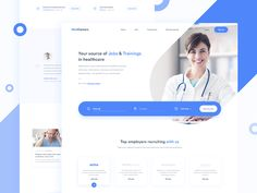 MedCareers - Recruitment in Healthcare 👩🏻⚕️ sketch landing page interface design web ux ui minimal homepage clean jobs recruitment Web Ui Design, Web Design Company, Site Design, Landing Page Inspiration, Web Design Inspiration, Daily Inspiration, Medical Design, Healthcare Design, Website Layout