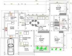 New Design House Layout Porches Ideas 2bhk House Plan, Three Bedroom House Plan, House Layout Plans, Best House Plans, Dream House Plans, House Layouts, Duplex Floor Plans, House Floor Plans, North Facing House