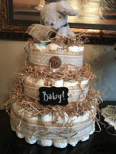 Rustic style diaper cake