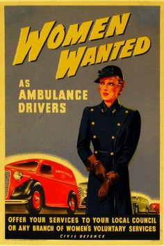 Women Wanted as Ambulance Drivers by drbexl, via Flickr