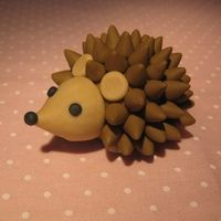 Hedgehog figure. Made for an upcoming cake!