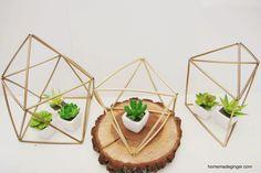 homemade ginger: DIY Geometric Planters