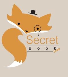 Fox logo for a book swap event.