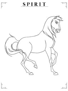 19 best coloring pages lineart dreamworks spirit stallion of the