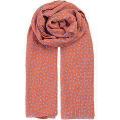 Becksondergaard Fine Summer Star Scarf - Russet Orange ($31) ❤ liked on Polyvore featuring accessories, scarves, russet orange, basic t shirt, orange shawl, star scarves, becksöndergaard and cotton scarves