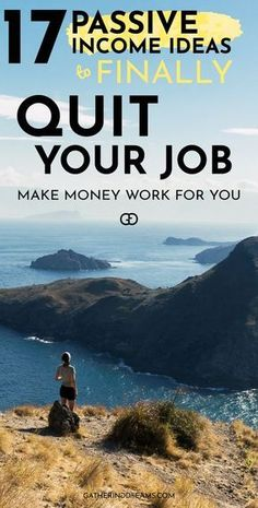 These are the best passive income ideas you can use to make extra money! Once you can generate enough passive income to cover your expenses you can quit your job and live your dream Earn money online Earn Money From Home, Make Money Fast, Make Money Online, Money Today, Quitting Your Job, Online Jobs, Online Careers, Online Income, Online Courses