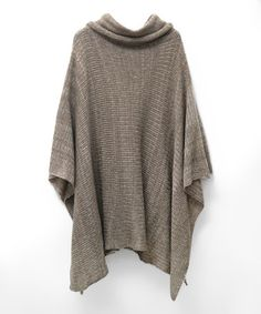 Look what I found on #zulily! Taupe Ribbed Turtleneck Poncho #zulilyfinds