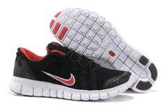 Mens Nike Free Powerlines Mesh- Schwarz Rot