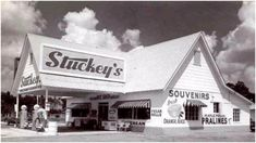 Do You Remember Stuckey's. Was A Stop At Stuckey's Part of Your Family's Summer Road-Trip Vacations? Drive In, My Childhood Memories, Great Memories, Before I Forget, Old Gas Stations, Vintage Restaurant, Old Florida, Vintage Florida, South Florida