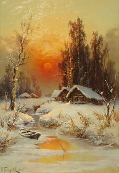 November 🍁 Pictures To Paint, Christmas Art, Painting Snow, Winter Painting, Winter Art, Winter Landscape, Landscape Art, Landscape Paintings, Bob Ross Paintings