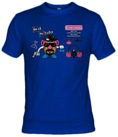 Camiseta Bad Potato, Camisetas Breaking Bad, Camisetas Television, Fanisetas, Camiseta Bad Potato, Walter White tiene muchas caras, como Mr potato, juega con tu patata favorita y conviertelo en Heisenberg para cocinar Meta y montar un megaimperio. basa...