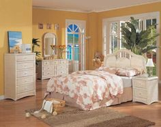 White Wicker Bedroom Furniture With Yellow Wall Color - Home Interior Design Ideas White Wicker Bedroom Furniture, Wicker Headboard, Wicker Dresser, Dresser Mirror, Queen Headboard, Wicker Trunk, Wicker Mirror, Wicker Shelf, Wicker Table