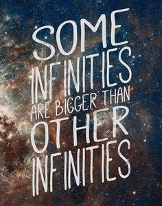 Algunos infinitos son más grandes que otros infinitos
