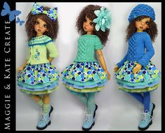 """**3 SEASONS** 10-Piece Outfit for Kaye Wiggs 18"""" MSD BJD by Maggie & Kate Create"""
