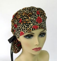 Women's Bouffant Scrub Hat or Surgical  Cap by ScrubsbyEdie