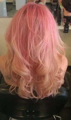 pink blond ombre