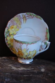 BELL CHINA England Tea Cup and Saucer Spring  more daffodils!!!!