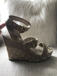 60a4145865c31 coach wedge sandals 8.5  fashion  clothing  shoes  accessories  womensshoes   sandals (ebay link)
