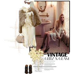 'Vintage Glam Look' by Givenchy by mercanici on Polyvore featuring Givenchy, Yves Saint Laurent and vintage