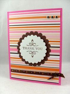 Handmade thank you card ideas