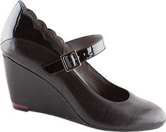 The Renata with its combination of leathers and stable wedge base and Mary Jane strap is a perfect addition for the career woman looking for comfort, fit and fashion. The heel height is 2.75 inches. Patent pending, shock absorbing heel softens the impact of each step. Patented removable contoured fo