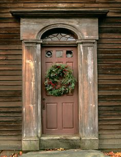 a rustic door frame in Deerfield Massachusetts & Ashley House The 1734 reproduction doorway is typical of those found ...