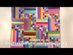 After watching this tutorial it will be! Learn how to make your own rainstick quilt and enjoy the beautiful finished product! Quilting Tutorials, Quilting Projects, Quilting Designs, Sewing Projects, Quilting Ideas, Jellyroll Quilts, Scrappy Quilts, Easy Quilts, Quilt Kits