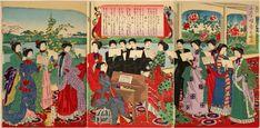 小学唱歌 Era Meiji, Taisho Era, Japanese History, Japan Art, Block Prints, Wood Blocks, Vintage Fashion, Museum, Victorian