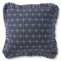 Luminary Sapphire Outdoor Pillow