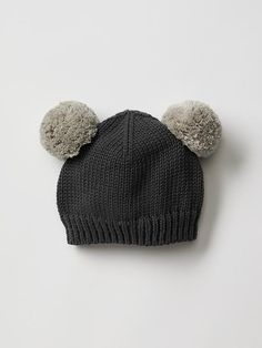 abd0327d8f8 Bear pom-pom hat from Baby Gap is such a sweet accessory for a ...