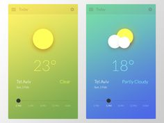 Weather app interface concept. Follow me if you like :)   Twitter