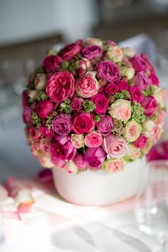 Gesteck aus Rosen