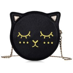 Cat Shape Black Crossbody Bag ($59) ❤ liked on Polyvore featuring bags, handbags, shoulder bags, cat purse, crossbody purses, crossbody shoulder bags, cat handbag and cross-body handbag