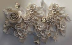 Wall mural bouquet, cut flowers and flower in the shop .- Buy mural Bouquet, cut flowers and flower in the Uwalls shop - Cut Flowers, White Flowers, Order Photos, Shops, Home Wallpaper, 3d Wall, Wall Murals, Decoration, Decorating Your Home