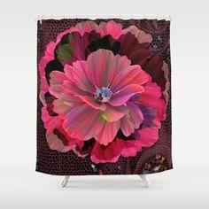 Leaf mosaic(9). Shower Curtain by Mary Berg - $68.00   #ShowerCurtain society6.com/... #showercurtains #society6 #pink #elegant #purple #romantic #bathroom #textile #homedesign #life #flower
