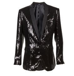Dolce and Gabbana men's sequined blazer.
