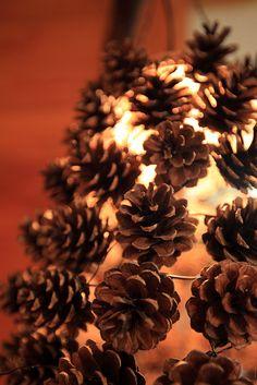 pinecone lamp shade