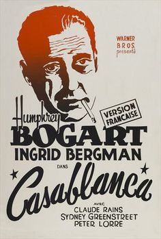 Casablanca posters for sale online. Buy Casablanca movie posters from Movie Poster Shop. We're your movie poster source for new releases and vintage movie posters. Humphrey Bogart, Bogart And Bacall, Casablanca Movie, Casablanca 1942, Ingrid Bergman, Male Movie Stars, Sydney, French Movies, Movie Posters