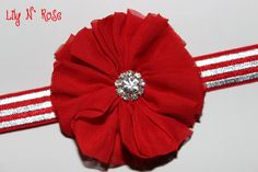 Red Ballerina Flower and by LilyNRoseHeadbands, Head Bands, Baby Headbands, Ballerina, Flowers, Red, Stuff To Buy, Accessories, Fashion, Moda