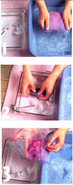Wet felting process - soak, agitate, repeat