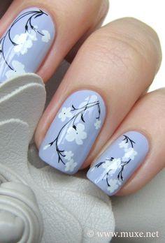 lilac nail art - Cerca con Google