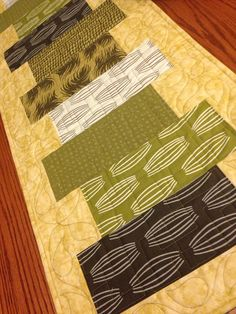 Modern Parson Gray Amber Olive Table Runner on Etsy, $75.00 This would make a great housewarming or shower gift.