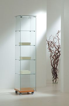 A Slim Glass Display Cabinet Available With Top Lights. Glass Display  Cabinets, Glass Cabinets