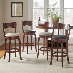 Shop for TRIBECCA HOME Lyla Swivel 29-inch Brown Oak Bar Height Linen Barstool. Get free shipping at Overstock.com - Your Online Furniture Outlet Store! Get 5% in rewards with Club O!