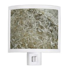 Glacial Ice Night Light - ocean side nature waves freedom design