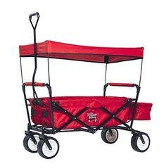 Folding shopping cart trolley bag Utility Wagon W/ Canopy Collapsible Outdoor Camping Shopping Beach Wagon Sports Garden Cart Folding Shopping Cart, Folding Wagon, Kids Wagon, Beach Wagon, Pull Wagon, Camping Shop, Tires For Sale, Sports Wagon, Garden Cart