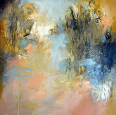 Clearing Ahead 36x36 acrylic and oil on canvas by Debora L. Stewart available at Huff Harrington Gallery, Atlanta, Georgia April 2016