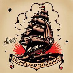 Old School Tattoo Arm, Old School Sleeve, Sailor Jerry Flash, American Traditional, Flash Art, Tattoo Ship, Tattoo Small, Blackwork, Tattoo Ideas