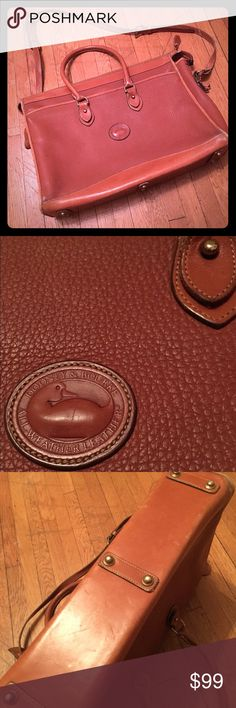 VTG beautiful Dooney & Bourke leather briefcase Perfect and sturdy. Some wear on corners (reflected in price and pictures). Lots of life left in this beauty! Dooney & Bourke Bags